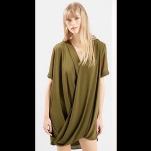 Topshop Draped Grecian Mini Dress